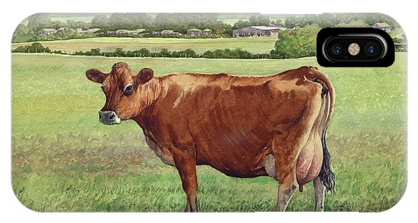 Jersey Cow Phone Case by Anthony Forster