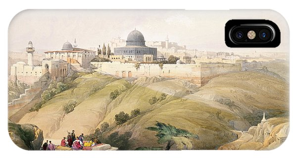 1 iPhone Case - Jerusalem, April 9th 1839, Plate 16 by David Roberts