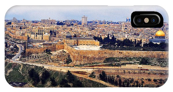 Cemetery iPhone Case - Jerusalem From Mount Olive by Thomas R Fletcher