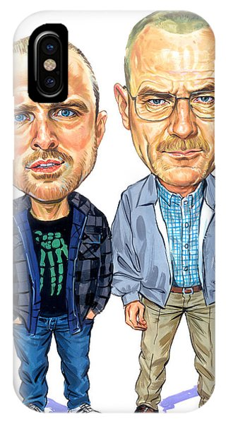 Jesse Pinkman And Walter White Phone Case by Art