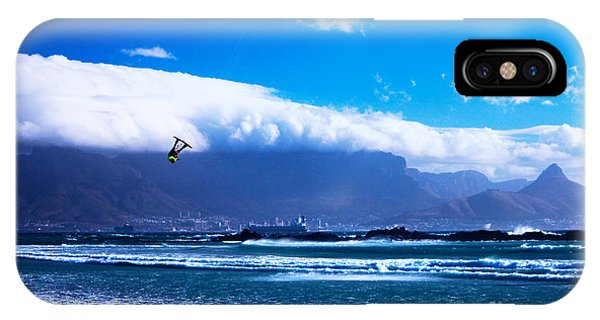Jesse - Redbull King Of The Air Cape Town - Table Mountain  Phone Case by Charl Bruwer