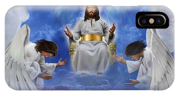 Jesus Enthroned IPhone Case