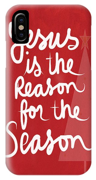 Winter iPhone Case - Jesus Is The Reason For The Season- Greeting Card by Linda Woods