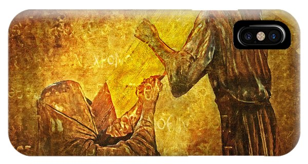Jesus Meets His Mother Via Dolorosa 4  IPhone Case