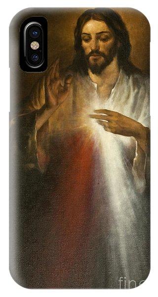 Christian Cross iPhone Case - Jesus Of Divine Mercy by Dan Radi