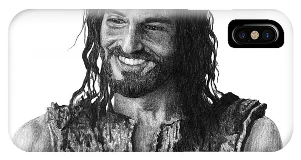 Realism iPhone Case - Jesus Smiling by Bobby Shaw