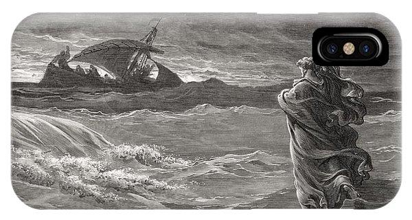 Jesus Walking On The Sea John 6 19 21 IPhone Case