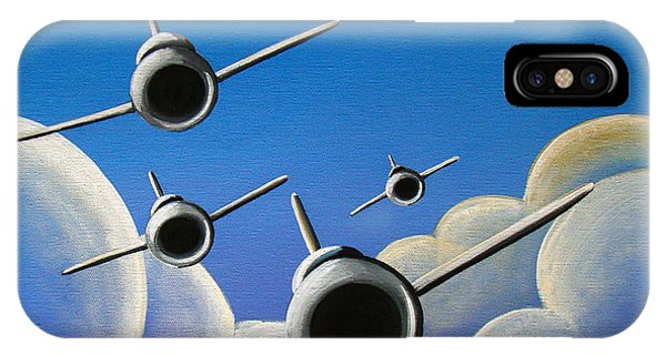 Airplane iPhone Case - Jet Quartet by Cindy Thornton