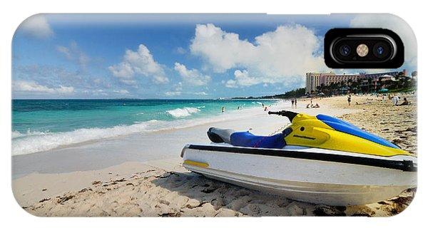 Jet Ski iPhone Case - Jet Ski On The Beach At Atlantis Resort by Amy Cicconi