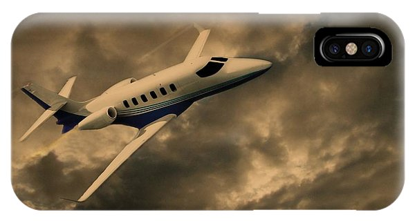 Jet Through The Clouds IPhone Case