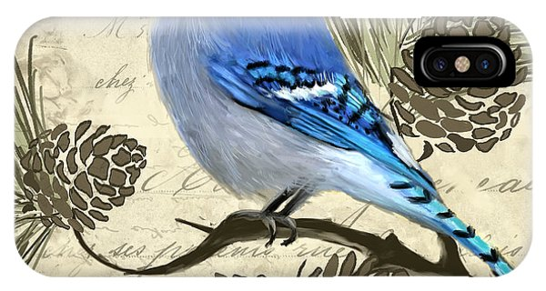 Migratory Birds iPhone Case - Jeweled Blue by Lourry Legarde