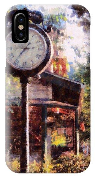 Jewelry Square Clock Milford  IPhone Case