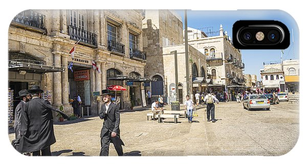 Jewish Men In Jerusalem Old Town Israel IPhone Case
