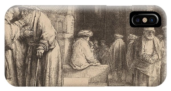 Baroque iPhone Case - Jews In The Synagogue by Rembrandt