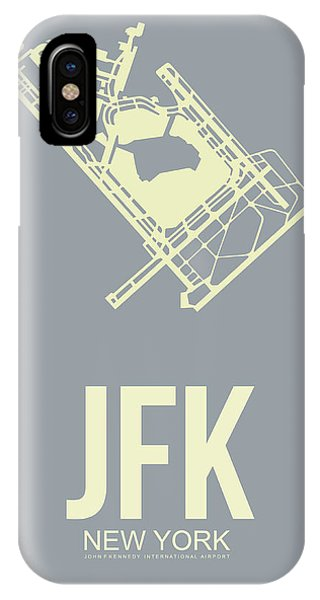 Minimalist iPhone Case - Jfk Airport Poster 1 by Naxart Studio