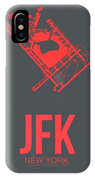 Broadway iPhone Case - Jfk Airport Poster 2 by Naxart Studio