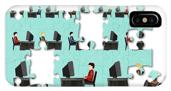 Jigsaw Puzzle Of Businessmen Phone Case by Fanatic Studio / Science Photo Library