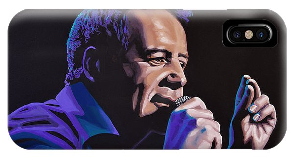 Punk Rock iPhone Case - Jim Kerr Of The Simple Minds Painting by Paul Meijering