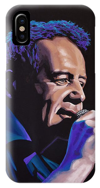 Simple iPhone Case - Jim Kerr Of The Simple Minds Painting by Paul Meijering