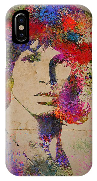 Jim Morisson Watercolor Painting IPhone Case
