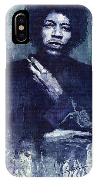 Portret iPhone Case - Jimi Hendrix 01 by Yuriy Shevchuk