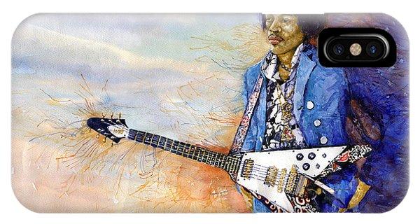 Guitar Legends iPhone Case - Jimi Hendrix 10 by Yuriy Shevchuk
