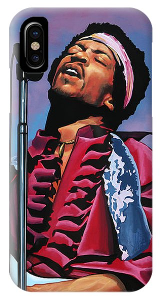 Knight iPhone Case - Jimi Hendrix 2 by Paul Meijering
