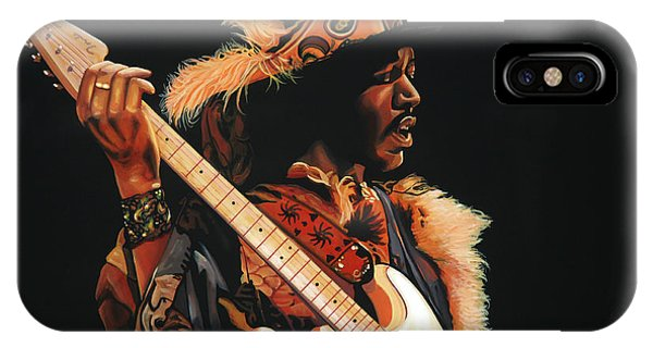 Knight iPhone Case - Jimi Hendrix 3 by Paul Meijering