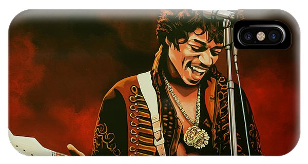 Realism iPhone Case - Jimi Hendrix Painting by Paul Meijering