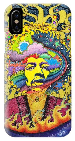 Jimi Hendrix Rainbow King IPhone Case