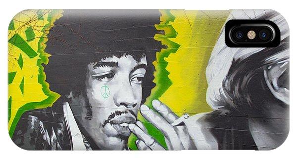 Jimmy Hendrix Mural IPhone Case