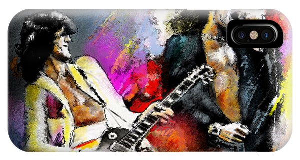 iPhone Case - Jimmy Page And Robert Plant Led Zeppelin by Miki De Goodaboom