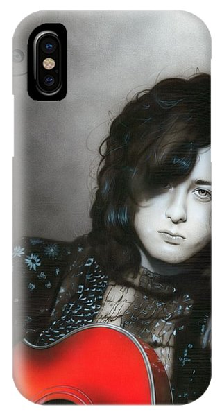 Rock And Roll Jimmy Page iPhone Case - Jimmy Page by Christian Chapman Art