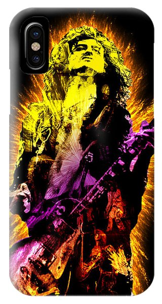 Rock And Roll Jimmy Page iPhone Case - Jimmy Page by Michael Lee