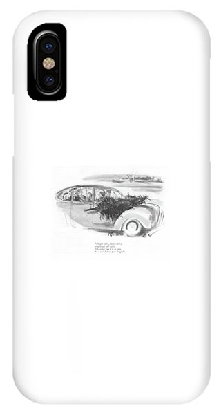 All In The Family iPhone Case - Jingle Bells by Perry Barlow