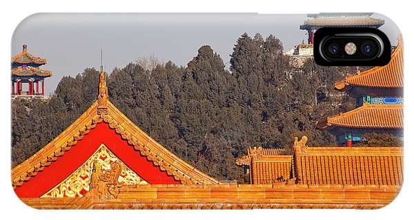 Forbidden City iPhone Case - Jinshang Park Pavilions From Forbidden by William Perry