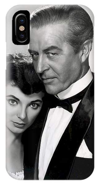 Leading Actress iPhone Case - Joan Collins - Ray Milland by Daniel Hagerman