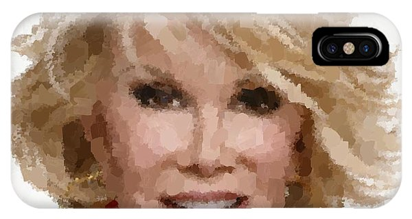 Joan Rivers Portrait IPhone Case