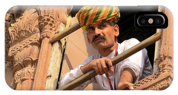 Jodhpur Fort Guard IPhone Case