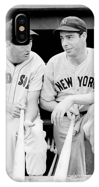 Red Sox iPhone Case - Joe Dimaggio And Ted Williams by Gianfranco Weiss
