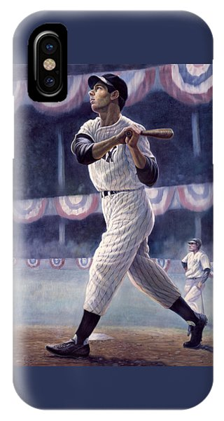 New York Yankees iPhone Case - Joe Dimaggio by Gregory Perillo