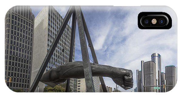 Joe Louis Fist Downtown Detroit  IPhone Case