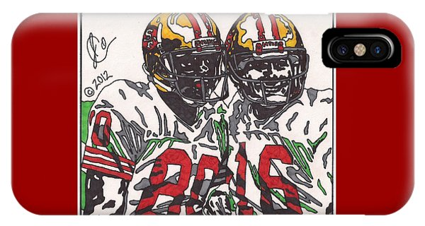 Joe Montana And Jerry Rice IPhone Case