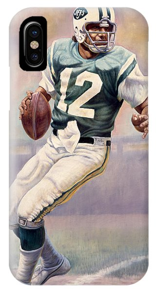 Yard iPhone Case - Joe Namath by Gregory Perillo
