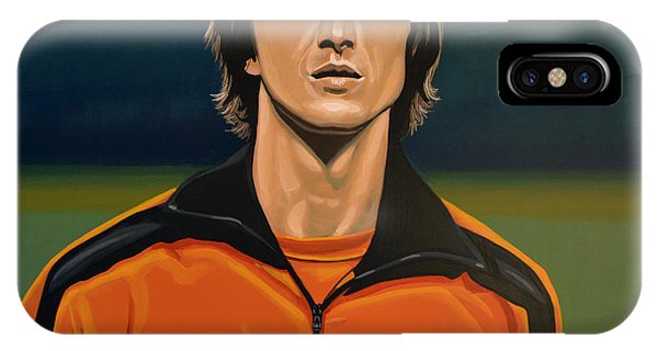 Or iPhone Case - Johan Cruyff Oranje by Paul Meijering