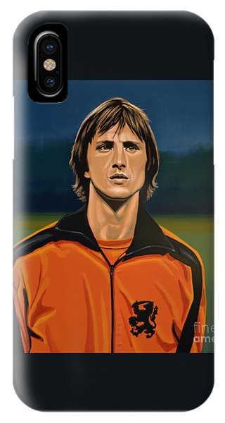 Aztec iPhone Case - Johan Cruyff Oranje by Paul Meijering