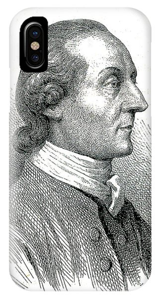 Head And Shoulders iPhone Case - Johann Kaspar Lavater by Collection Abecasis