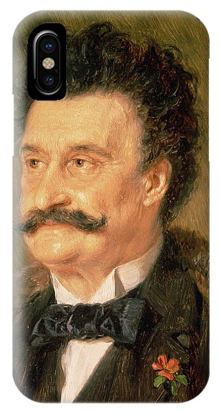 Moustache iPhone Case - Johann Strauss The Younger, 1895 by Eduard Grutzner