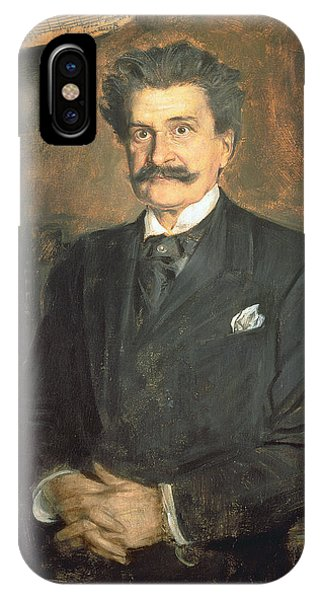 Moustache iPhone Case - Johann Strauss The Younger, 1895 by Franz Seraph von Lenbach