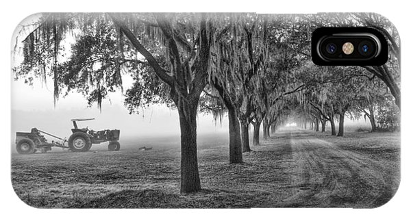 John Deer Tractor And The Avenue Of Oaks IPhone Case